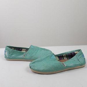 Toms Slip on Sandels Size 7W